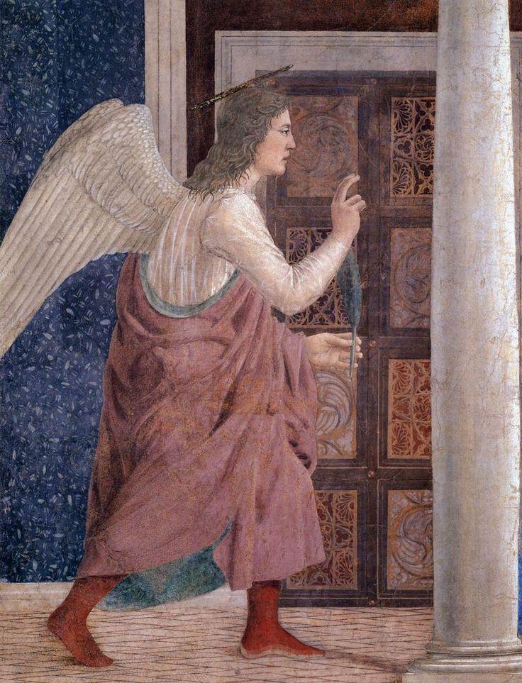 Piero della Francesca | Annunciation (detail), 1452-66 Fresco, 329 x 193 cm San Francesco, Arezzo