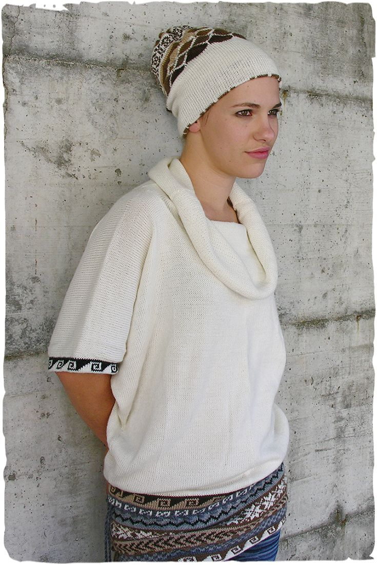 Hippie alpaca vest  #alpaca #vest Cowl neck #wool vest for woman, short #kimono sleeves - See more at: http://www.lamamita.co.uk/en-US/store/winter-clothing/1/jumpers/hippie-alpaca-vest#sthash.7FAZ6h7l.dpuf