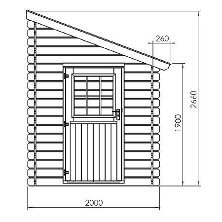 Abri de jardin adossable 5 m² - bois 28 mm PEFC - Plantes et Jardins