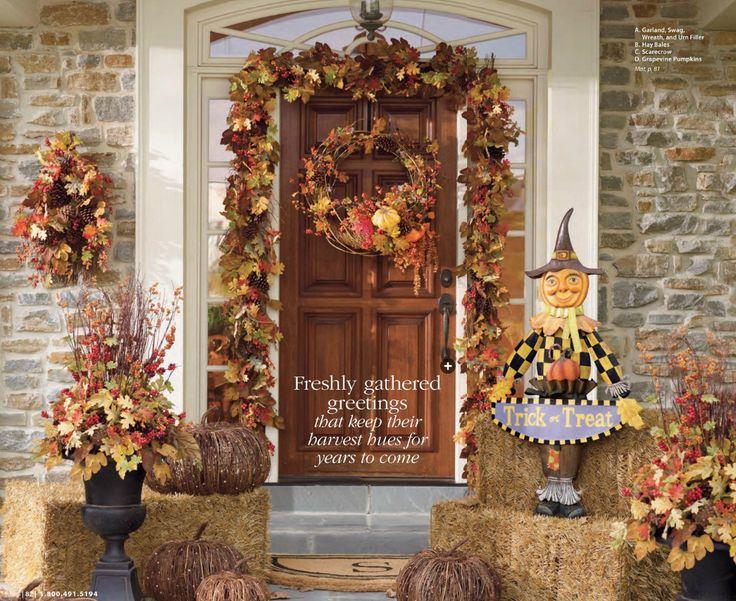 halloween front entrance decor httpwwwgrandinroadcom