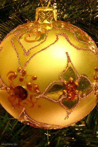 Gifs Animados Cia: Bola de Natal Dourada