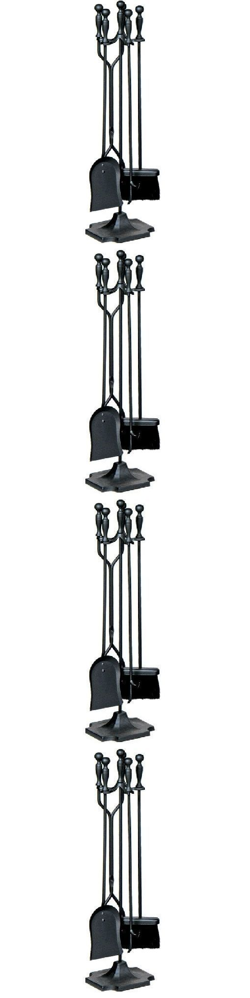 Pokers Tools and Sets 38222: Fireplace Tools Set 5 Piece Shovel Stand Tool Set Metal Steel Poker Black -> BUY IT NOW ONLY: $31.72 on eBay!
