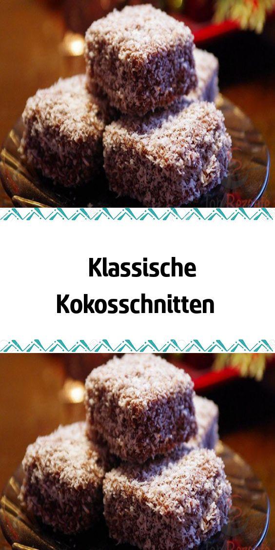 Klassische Kokosschnitten