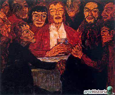 La Ultima Cena por Emil Nolde. 1909.  86 x 107 cm.Expresionismo