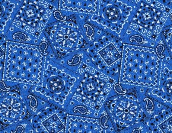 blue bandana fabric blue fabric bandana fabric 1 yard