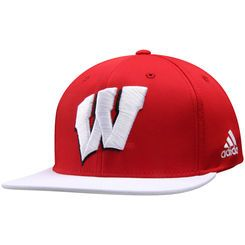 Wisconsin Badgers adidas climalite Sideline Snapback Adjustable Hat - Red/White