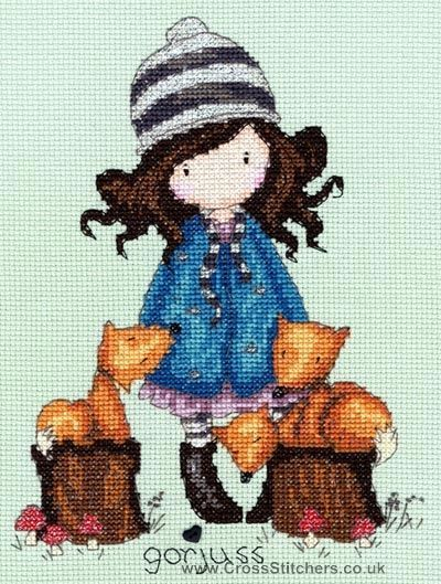 Gorjuss - The Foxes - Cross Stitch Kit from Bothy Threads