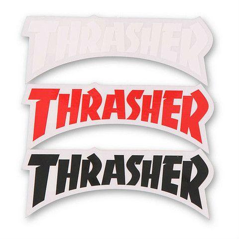 THRASHER LOGO DIE CUT STICKER