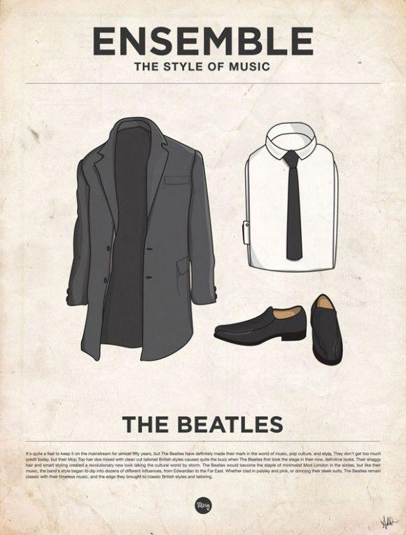Musique, affiches minimalistes et vêtements vetements habits musique poster affiche minimaliste 19 design