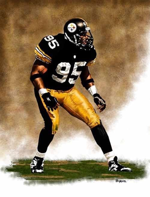 Greg Lloyd Pittsburgh Steelers by James Byrne