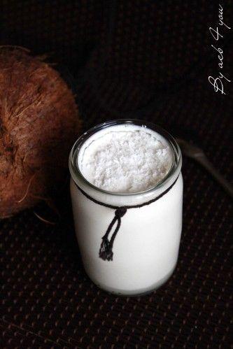 Yaourts coco maison, au lait entier et lait de coco
