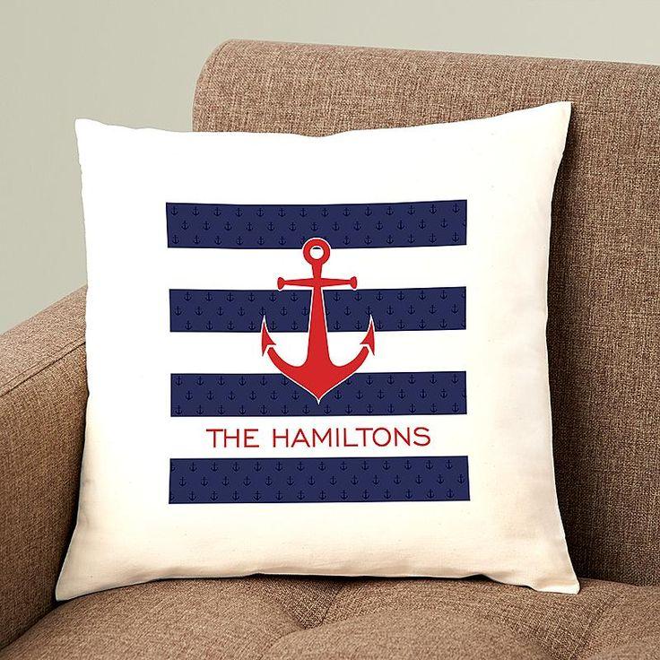 Ahoy! Nautical Pillow