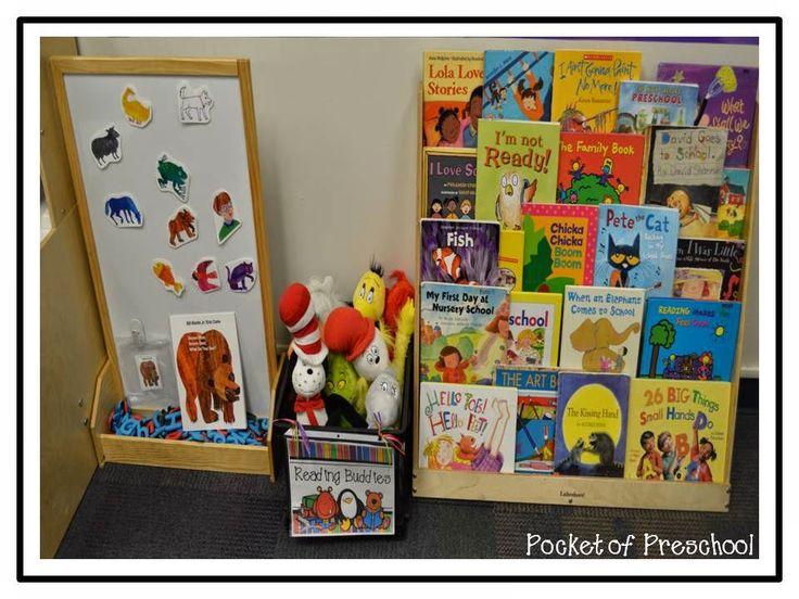 Classroom Library Ideas Kindergarten : Classroom reveal preschool center ideas pinterest