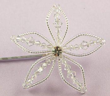 Sparkly Lily Hair Grip