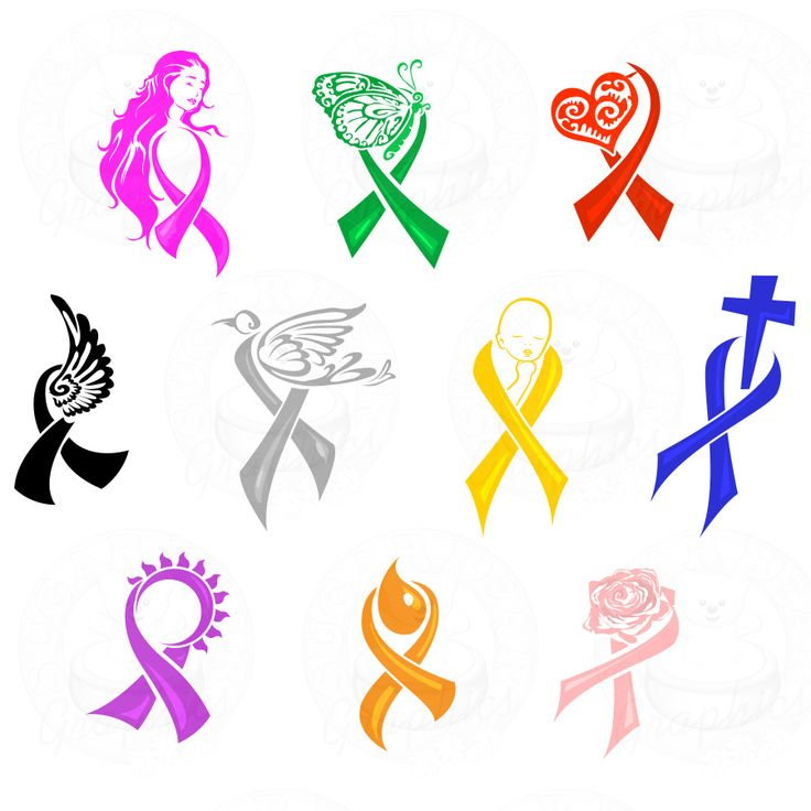 crochet awareness ribbons motifs - Google Search