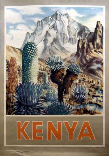 Kenya 1930s travel poster