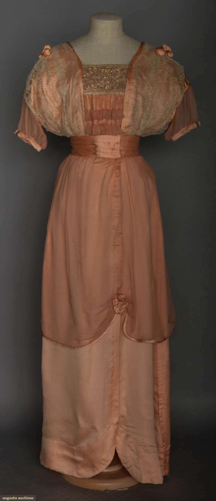 Pink Silk Ball Gown, C. 1912, Augusta Auctions, November 11, 2015 NYC