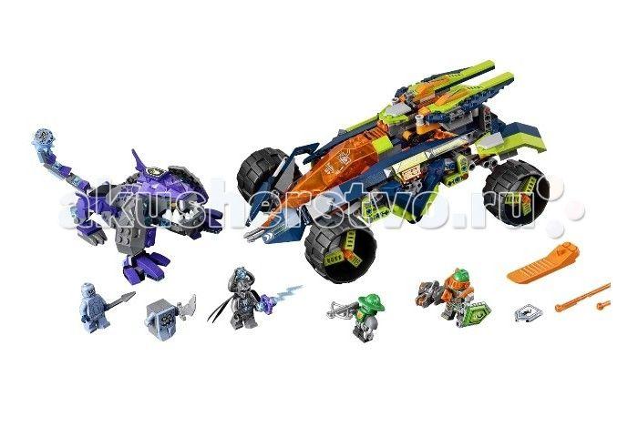 Конструктор Lego Нексо Вездеход Аарона 4x4 598 элементов  Конструктор Lego Нексо Вездеход Аарона 4x4 598 элементов 70355 – это уникальное сочетание всего того, что так нравится мальчикам: эпохи рыцарей и эры роботов и технологий.  Отважный рыцарь Аарон вместе со своим верным роботом несется на своей боевой машине в атаку – впереди приготовились к бою каменные демоны, каменный солдат и Брикстер. Казалось бы, мощных и обычных врагов больше в два раза, но храбрый Аарон так не думает, ведь его…