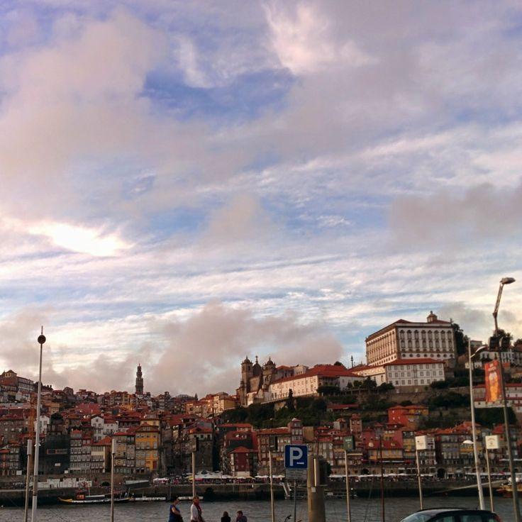 Porto - Old town (Ribeira) from Gaia