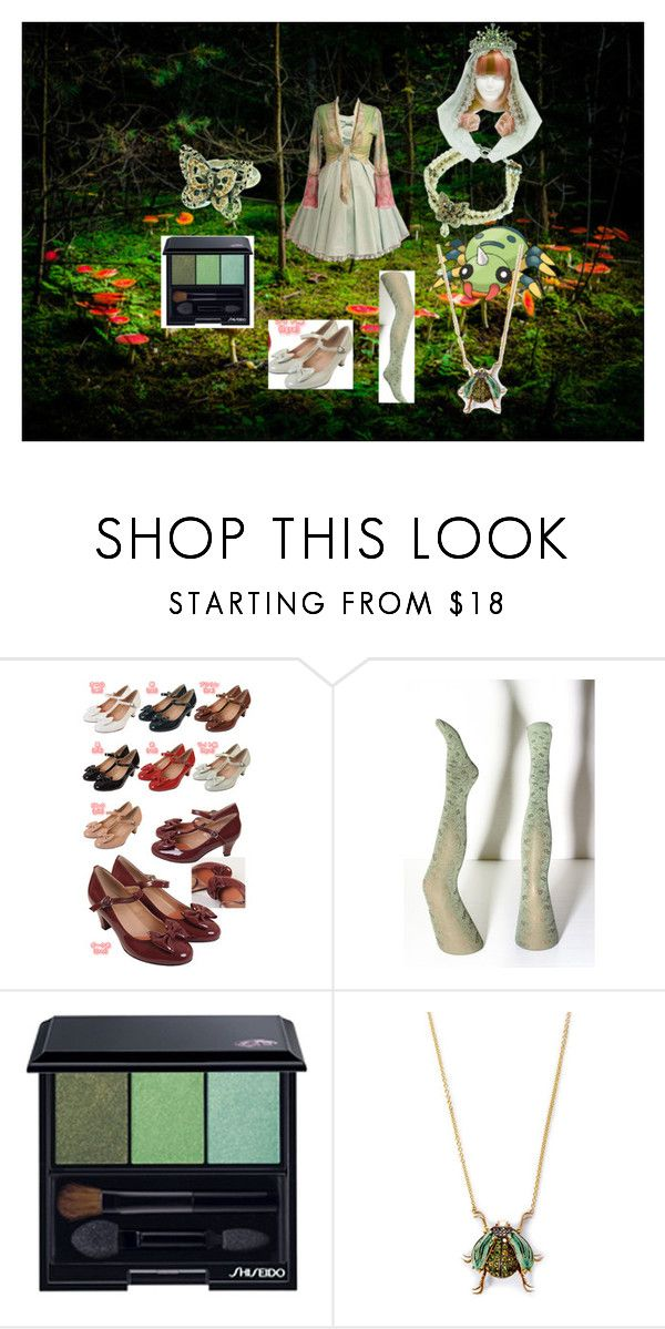"""""""Bug type: Insect Princess"""" by ladymienshao ❤ liked on Polyvore featuring Bodyline, Shiseido and Daniela Villegas"""