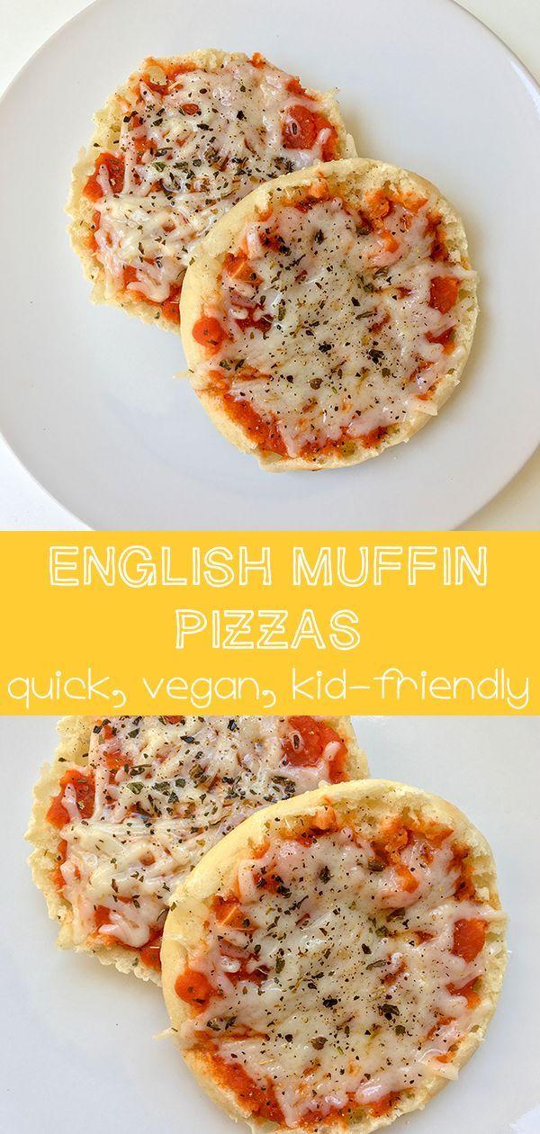 English Muffin Pizza Recipe Plant Based Recipes Pinterest