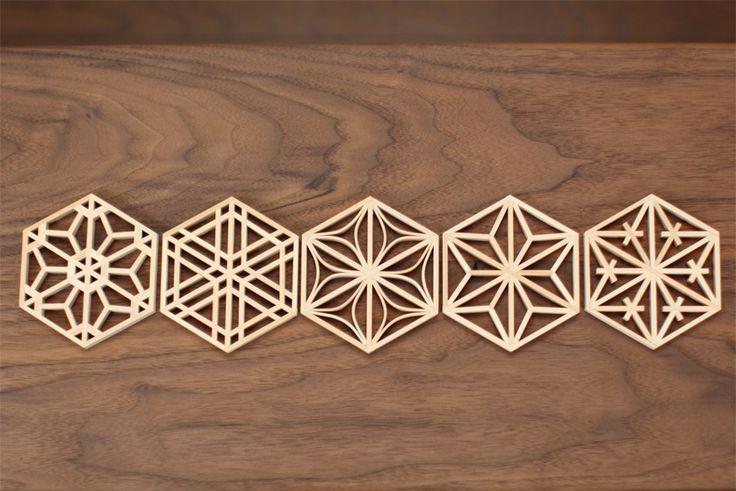 クミココースター(組子コースター)|木工職人が作る家具 Furusu wood works -古巣-