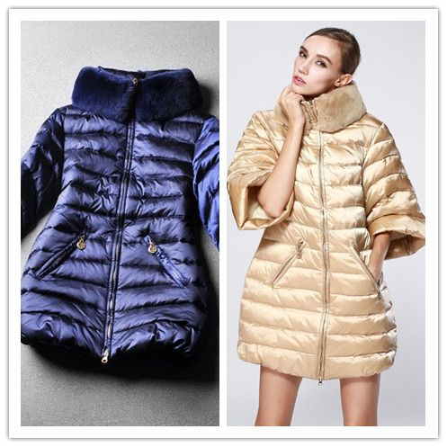 Winter fashion high quality fashion medium-long down coat outerwear overcoat half sleeve rabbit fur ladies jaket US $100.00 To Buy Or See Another Product Click On This Link  http://goo.gl/Ln6ntd