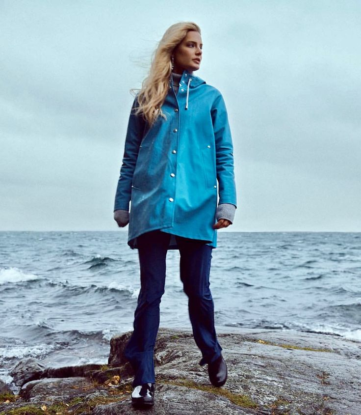 The Emma silk pants in typical Swedish weather.