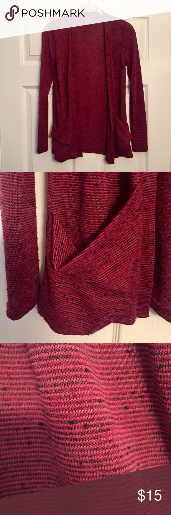 Urban Outfitters Cardigan Barely worn • in new condition • no pilling or damage • 2 front pockets • comfy material • color: maroon • perfect over a tee for a casual outfit • 💁 open to all offers ⚡️ fast shipping Urban Outfitters Sweaters Cardigans