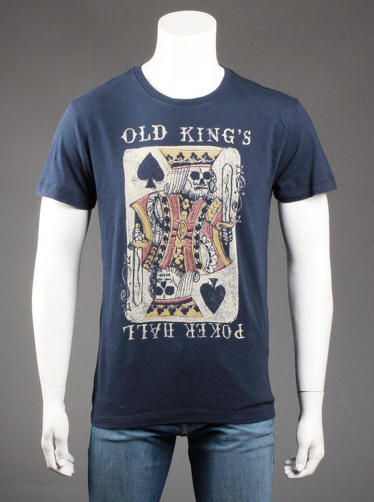 Lucky Brand Mens Kings Poker Hall T Shirt In Navy