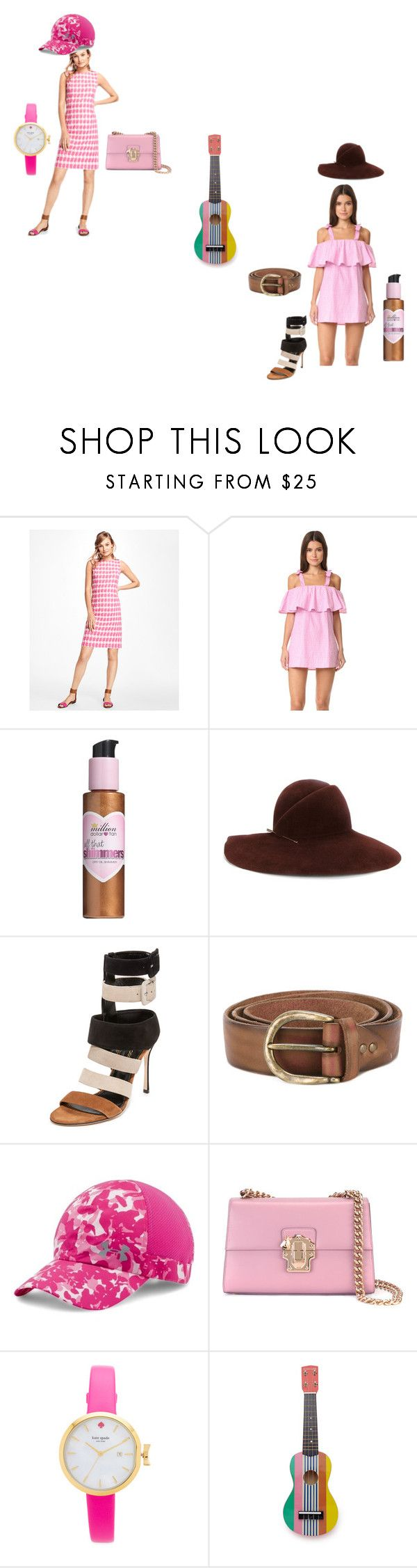 """Just Do It"" by ramakumari ❤ liked on Polyvore featuring Brooks Brothers, MLM, Million Dollar Tan, Eugenia Kim, Sergio Rossi, Erika Cavallini Semi-Couture, Under Armour, Dolce&Gabbana, Kate Spade and Sunnylife"