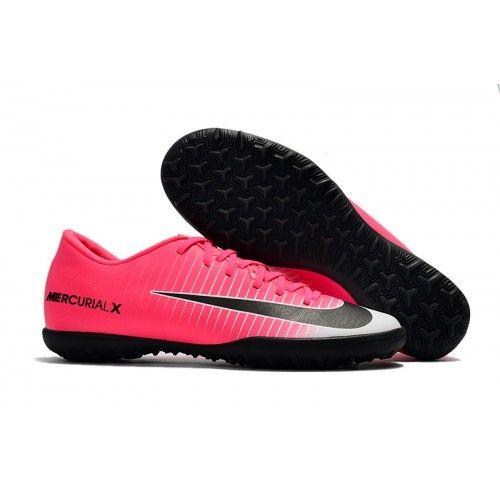Nike Mercurical Victory VI TF Herren Fußballschuhe Rosa Schwarz Weiß