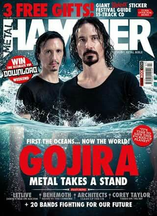 FIGHTING FOR OUR OCEANS: French quartet Gojira explains their insipirations behind their latest offering, Magma and their passion to conserve the oceans in Metal Hammer's July 2016 issue. The final preprations are in place for the Golden Gods Awards 2016, comedian Bill Bailey tells Hammer why he's deeply in love with Mastodon and go Alpine with Austria's Metal Mountain fest and… …metal's prodigal son, ex-Slipknot drummer Joey Jordison give us a taste on his upcoming offering.