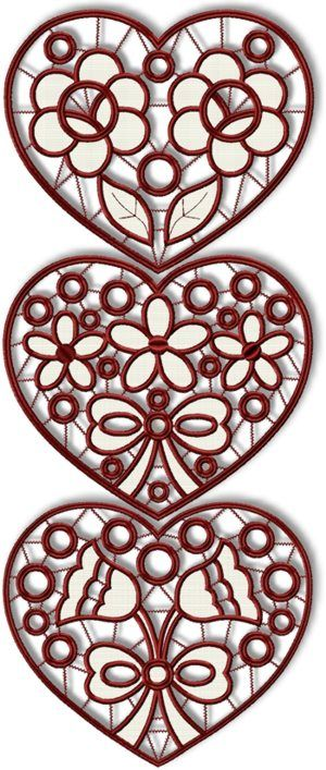 Valentine Heart Cutwork set of machine embroidery designs on http://www.advanced-embroidery-designs.com/
