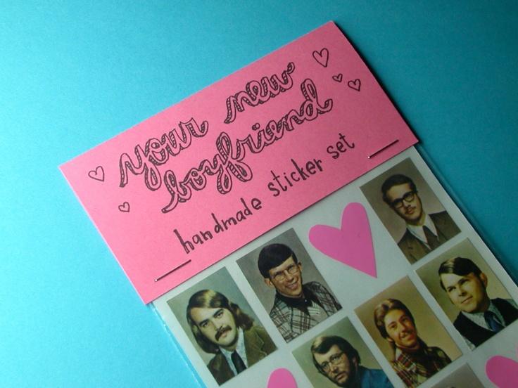 boyfriend handmade sticker set @Etsy
