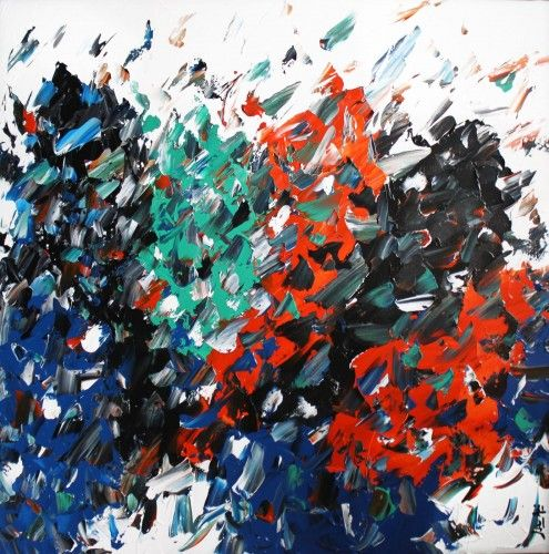 Abstract for SALE - Union #2 36x36 #abstract #art #painting Julien Aubé