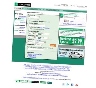 Enterprise car rental discount coupons