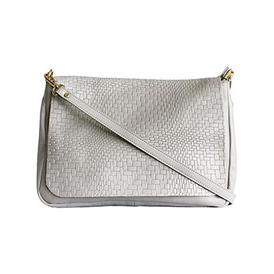 Cora Italian Light Grey Leather Cross Body Satchel BagCora Italian Light Grey Leather Cross Body Satchel Bag - £64.99