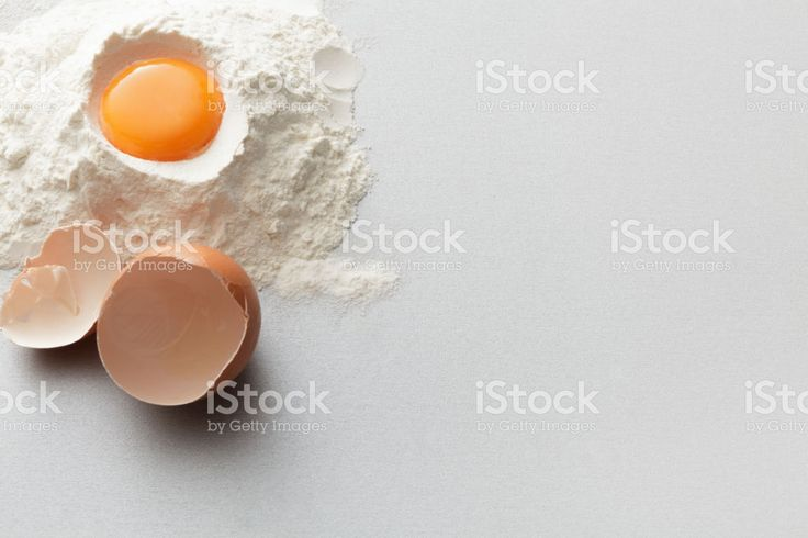 Baking: Flour and Egg Still Life royalty-free stock photo