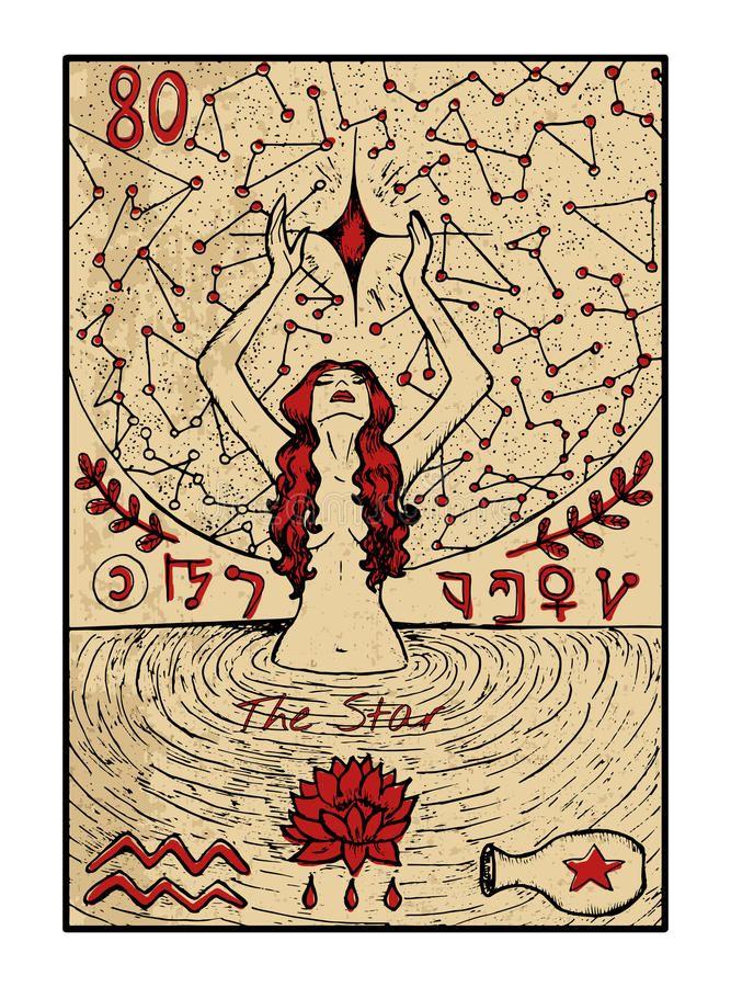 Image Result For Carte Du Tarot Etoile Cartas Del Tarot Vintage Arte De Carta Tarot Tarot Cartas