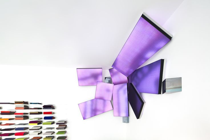 Kvadrat Soft Cells + Luminous textiles create art installation in our Paris showroom