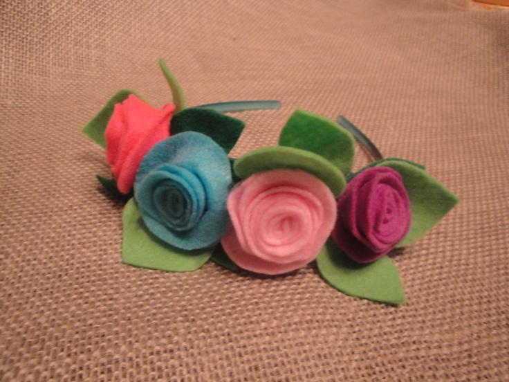 Fairy party: Felt flower headband favor