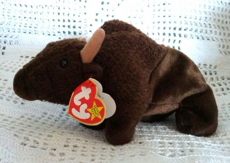 Ty Original Beanie Babies Retired Roam the Buffalo Plush Beanbag 9/27/98 MWMT 3+ #Ty