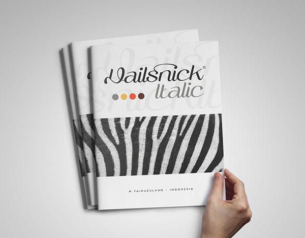 Rapsick | Vailsnick Italic Font by M Fairuzulhaq, via Behance