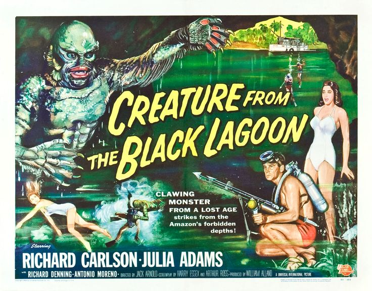 Creature from the Black lagoon: Movie Posters, Film, Creature, Movieposters, Movies, Lagoon 1954, Black Lagoon, Horror