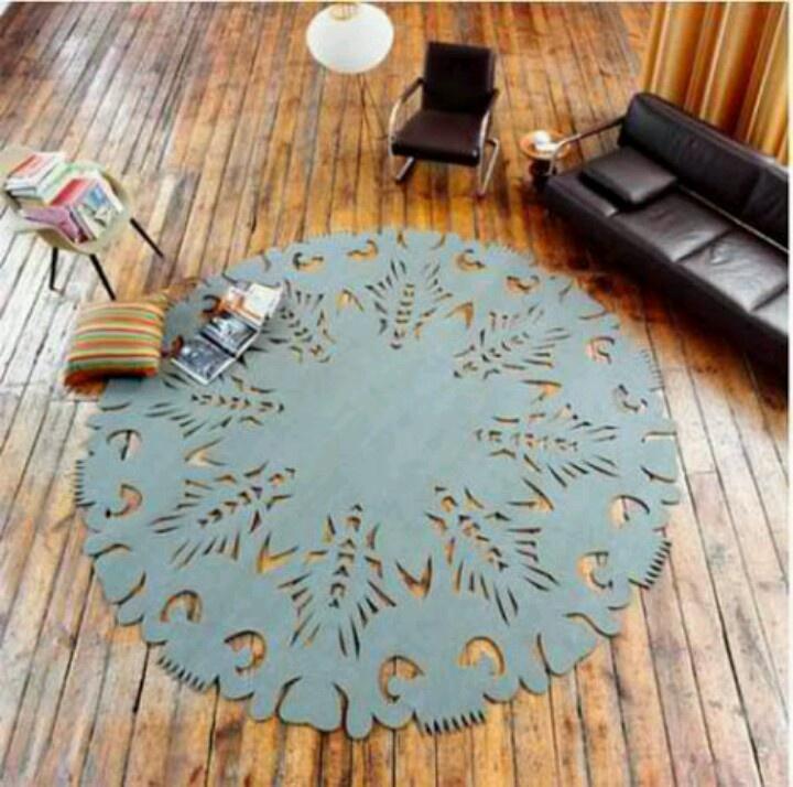 Laser cut area rug. Its beautiful.