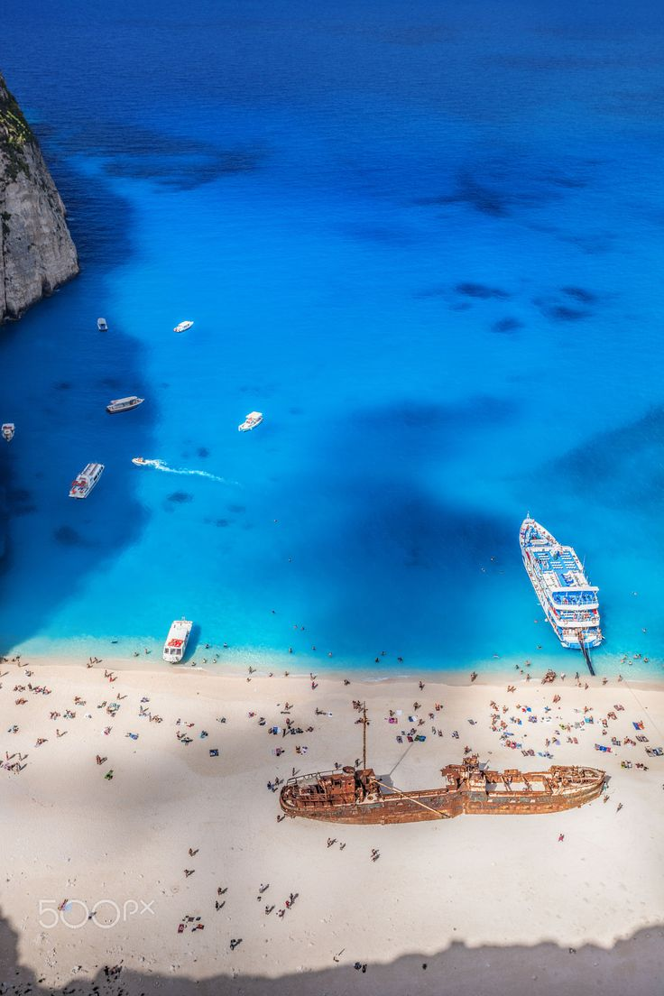 Ship wreck. Zakynthos. Great shot of the beach !!