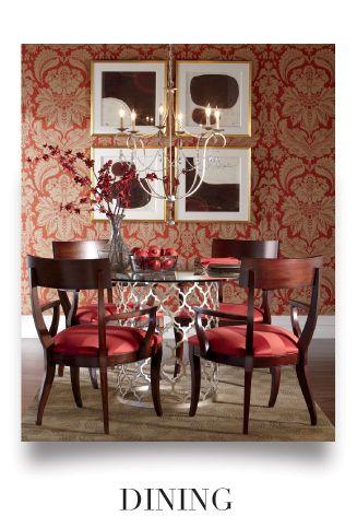 EthanAllen Red Dining Room Decorating Ideas