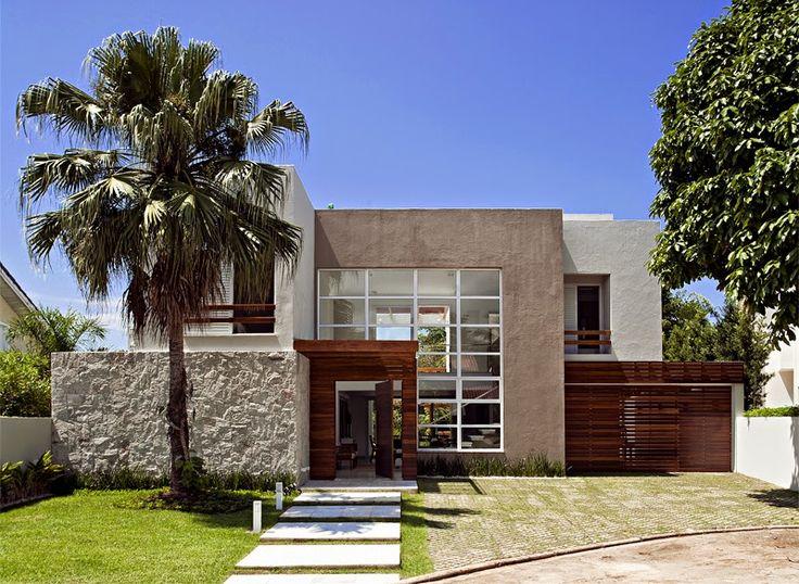 30 Fachadas de casas com pedras – veja diferentes tipos e tendências! Casa, fachada casa, house, casa pedra.