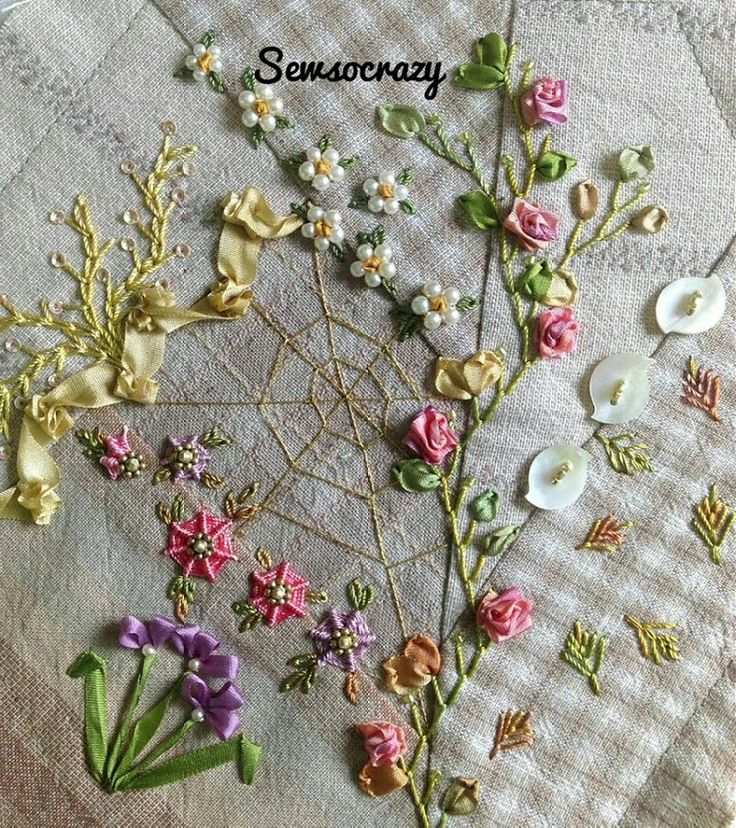 I ❤ crazy quilting & embroidery . . . In my hoop at the moment.jpg ~By Sew So Crazy Quilting